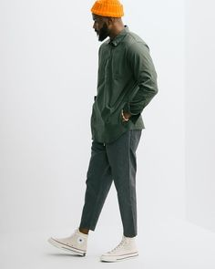 The Military Pullover Shirt from our friends at Nanamica. Come check out the rest of our selections now in store online. Mode Streetwear, Streetwear Fashion, Men Looks, Men Street, Street Wear, Stylish Men, Men Casual, Stil Inspiration, Moda Formal