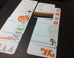 project life cards | Hand-stamped Halloween Project Life Cards ...