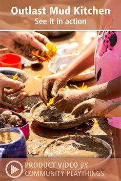 Watch these preschool kids having a blast with the Outlast Mud Kitchen! Toddler Classroom, Outdoor Classroom, Preschool Playground, Outdoor Learning Spaces, Mud Kitchen, Having A Blast, Sensory Play, Infants, Toddlers