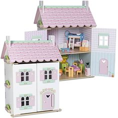 Le Toy Van Dollhouse & Furniture Set, Sweetheart Cottage