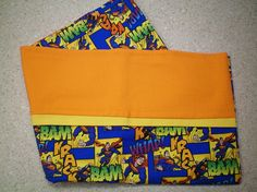 Great gift for all ages - toddler to elderly. Christmas stocking stuffer, birthday, other holiday or just because! Use for travel, summer camp, hunting/fishing camp, travel trailer, watching TV, sleepovers or just for fun! Standard/Queen size pillow case features Superman in action on a blue