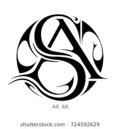 Monogram A,S & S,A Monogram Tattoo, Monogram Logo, S Logo Design, Lettering Design, Design Art, Love Images With Name, Initials Logo, Floral Logo, Graffiti Lettering