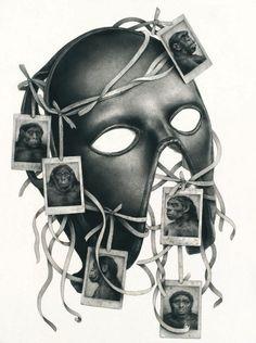 Sverre Malling · Mask/Primates · 2014 · 57 x 76 cm