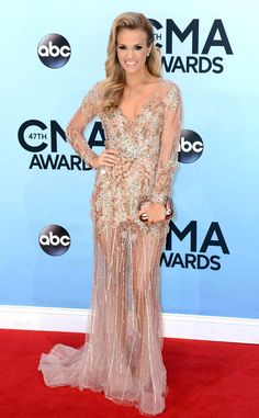 Carrie Underwood looks flawless in Ralph & Russo Couture. #fashion