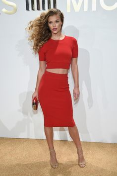 Nina Agdal attends the new Gold Collection fragrance launch hosted by Michael Kors featuring Duran Duran at Top of The Standard Hotel on September 13, 2015 in New York City.