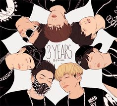 HAPPY 3 YEARS BTS (bangtan sonyeondan) SARANGHAE <3 FIGHTING !! ARMY's ARE HERE TO SUPPORT YOU