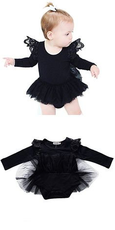 Weixinbuy Baby Girls Solid Tutu Romper Dresses Bodysuit Jumpsuit Clothes Outfits