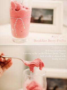 Breakfast Berry Fro Yo