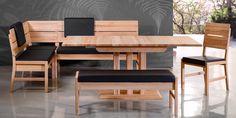 Gotland tömörfa konyhai sarok ülőgarnitúra Dining Bench, Furniture, Home Decor, Homemade Home Decor, Table Bench, Home Furnishings, Decoration Home, Arredamento, Dining Room Bench