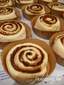Jade konyhája: Cinnabon - amerikai fahéjas csiga Cheesecake, Muffin, Bagel, Cooking, Breakfast, Cakes, Kitchen, Morning Coffee, Cheese Cakes