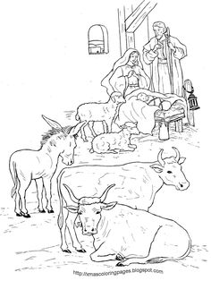 http://xmascoloringpages.blogspot.com.au/search/label/RELIGIOUS / NATIVITY COLORING