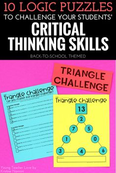 How to Sharpen Your Students' Critical Thinking Skills - Young Teacher Love by Kristine Nannini