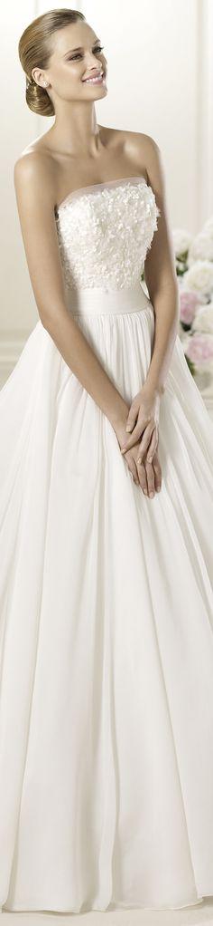 "Pronovias wedding dress ""Delta"", 2013 Collections. http://bit.ly/Pronovias_Delta"