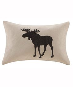 Moose Oblong Pillow | Woolrich® The Original Outdoor Clothing Company