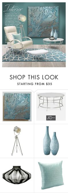 """""""Metal Wall Art"""" by ollie-and-me ❤ liked on Polyvore featuring interior, interiors, interior design, home, home decor, interior decorating, Loloi Rugs, Jonathan Charles Fine Furniture, Casa Cortes and Lazy Susan"""