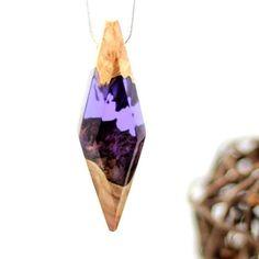 Purple pendant with a interesting landscape inside. . ArtfulResin.etsy.com…