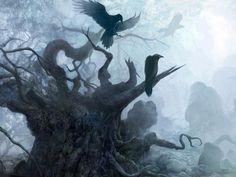 THE WITCHER fantasy dark raven death gothic halloween f Dark Fantasy, Fantasy Art, The Magic Faraway Tree, The Dark Side, Crows Ravens, Gothic Art, Dragon Age, Vampires, Dark Art