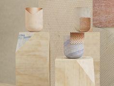 Vaso in marmo e rame Vaso Collezione Rabbet by Budri