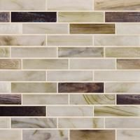 """Arctic Chill, 1"""" x 4"""" - Glass Tile"""