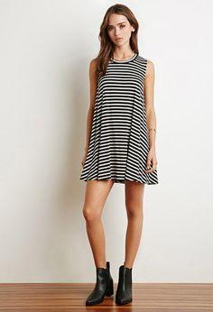 Stripe Trapeze Dress   Forever 21 - 2000141890