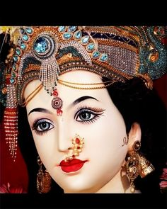 Ambe Maa, Navratri Festival, Kali Goddess, Durga Maa, Captain Hat, Hats, Jewelry, Fashion, Moda