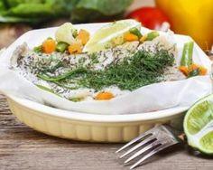 Papillote de cabillaud grillé aux petits légumes