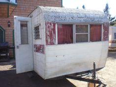 front Old Campers, Chevy, Restoration, Outdoor Structures, Vintage, Vintage Comics