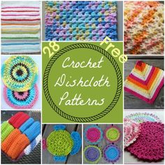 28 Free Crochet Dishcloth Patterns
