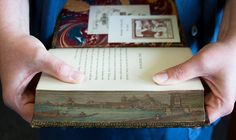 fore-edge painting on a rare book