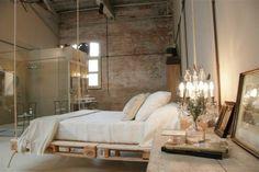 Récup palettes- 34  chambres à coucher- la tête de lit palette - lit-berceau-ivoire-luxe