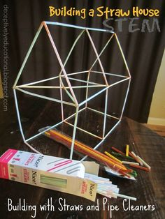 Relentlessly Fun, Deceptively Educational: Building a Straw House (STEM activity)