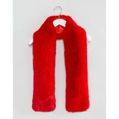 ASOS Faux Fur Bright Red Scarf (€12) ❤ liked on Polyvore featuring accessories, scarves, red shawl, bright shawl, asos scarves, faux fur scarves and faux fur shawl