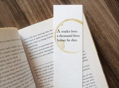 A Reader Lives A Thousand Lives Before He Dies Bookmark, Game Of Thrones Bookmark, George R.R. Martin Quote Book Mark, Book Lover Gift