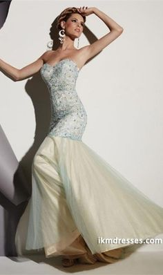 http://www.ikmdresses.com/2014-Sweetheart-Lace-Bodice-Beaded-Prom-Dress-With-Tulle-Skirt-Mermaid-p83308