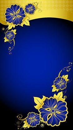 Blue and Yellow Wallpaper Frame Border Design, Page Borders Design, Trendy Wallpaper, Flower Wallpaper, Flower Backgrounds, Wallpaper Backgrounds, Poster Design, Graphic Design, Studio Background Images