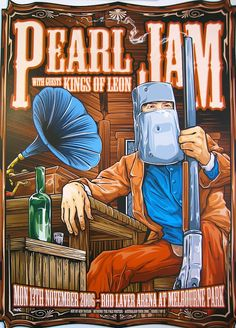 Pearl Jam ☮~ღ~*~*✿⊱╮Hippie Style, Free Spirit, Boho, - レ o √ 乇 ! Tour Posters, Band Posters, Movie Posters, Music Artwork, Art Music, Hippie Style, Vintage Music Posters, Retro Posters, Pearl Jam Posters