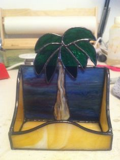 Palm Tree Business Card Holder