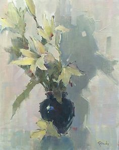 Lily Song by Nancy Franke Oil ~ 30 x 24