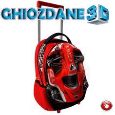 Ghiozdan tip troller gradinita 3D Sport Rosu Bicycle Helmet, 3d, Hats, Hat, Cycling Helmet, Hipster Hat