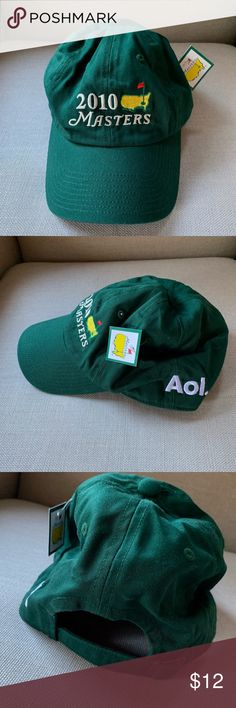 Official Merchandise 2010 Masters - Golf Cap NWT Official Merchandise 2010 Masters - Golf Cap which was personalized with AOL logo for corporate event. Accessories Hats