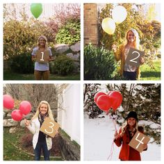 Missionary milestones. Take a picture for every month that you make it through apart holding the number and that many balloons. Send them to him along the way or give them all to him once he gets back. 24 months, 24 pictures. Two years apart. Could be cute if you did it as a countdown too :)