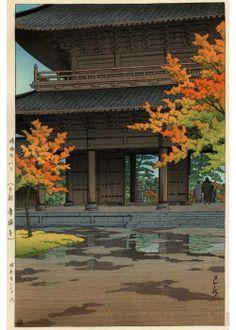 Hasui Kawase - Temple Nanzenji à Kyoto, en automne #1951 (HK38)  #art  #asian  #japanese