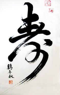 "Chinese calligraphy""age"" by sihui128  Age never looked so exciting!!"