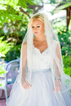 Bride Wearing Power Blue Wedding Dress   Dress – Lazaro   Events by Cassie https://www.theknot.com/marketplace/events-by-cassie-newport-beach-ca-662029   Jaime Davis Photography https://www.theknot.com/marketplace/jaime-davis-photography-orange-ca-590286  