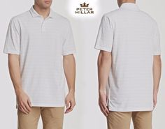 NWT $88 PETER MILLAR SEASIDE WASH STRIPE GOLF POLO SHIRT. MADE IN PERU. SZ: XL #PeterMillar #PoloRugby