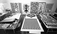 Girard in his studio, c. 1971-72. Photo: Herman Miller Archives via Wallpaper.