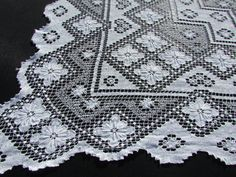 1950u0027s White Italian Net Lace Tablecloth By FlashbackFinds On Etsy