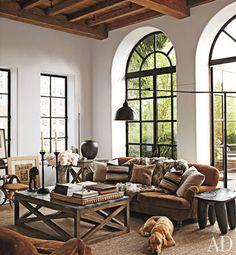 windows, beams, high ceilings