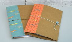 First Edition Man Made kids summer projects - fun journal made with kraft cards