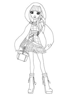 Free Printable Ever After High Coloring Pages: Cerise Hood Ever After High Coloring Page